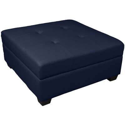 Grace Cocktail Ottoman Upholstery: Leather Look Navy