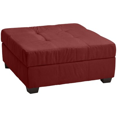 Grace Cocktail Ottoman Upholstery: Suede Cardinal Red