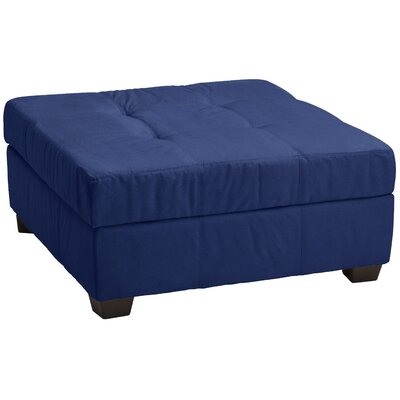 Grace Ottoman Upholstery: Suede Dark Blue