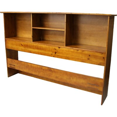 Gordon Bookcase Headboard Size: King, Color: Medium Oak