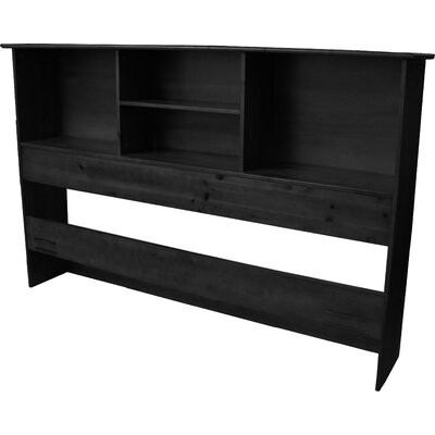 Gordon Bookcase Headboard Size: King, Color: Black
