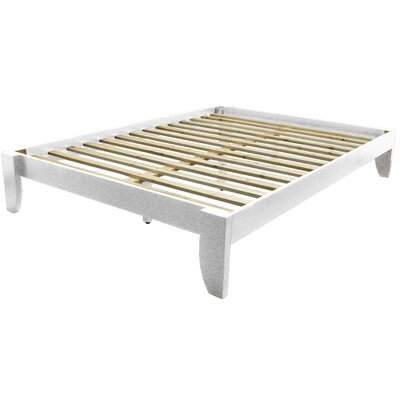 Gordon Platform Bed Size: King, Color: Antique White