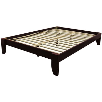 Gordon Platform Bed Finish: Mahogany, Size: Queen
