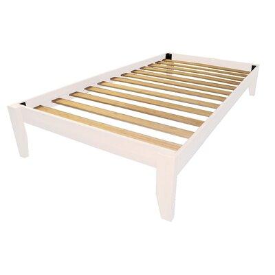 Gordon Platform Bed Size: Twin, Color: Antique White