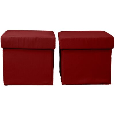 Grace Storage Ottoman Upholstery: Suede Cardinal Red
