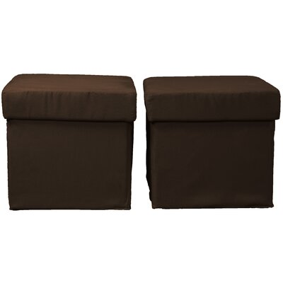 Grace Storage Ottoman Upholstery: Suede Chocolate Brown