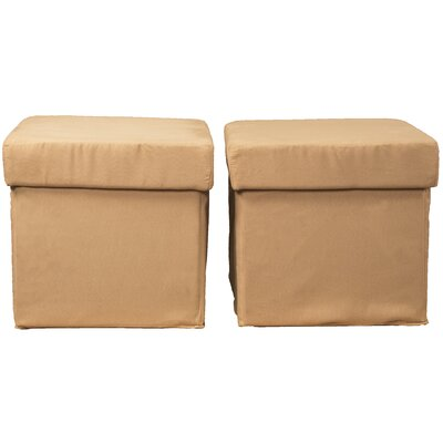 Grace Storage Ottoman Upholstery: Suede Khaki