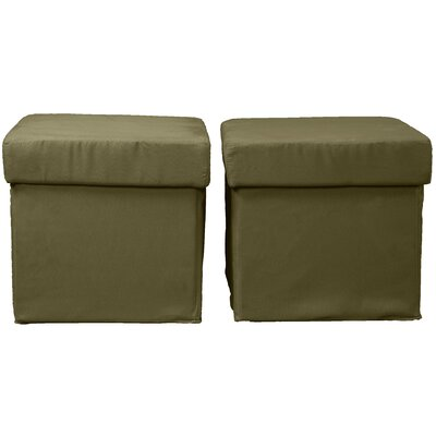 Grace Ottoman Upholstery: Suede Olive Green