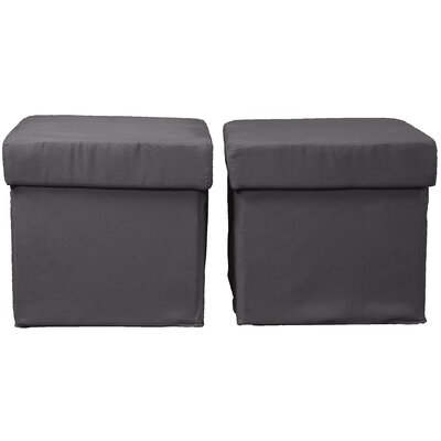 Grace Ottoman Upholstery: Suede Slate Grey