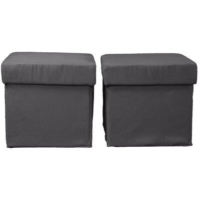 Grace Storage Ottoman Upholstery: Suede Slate Grey