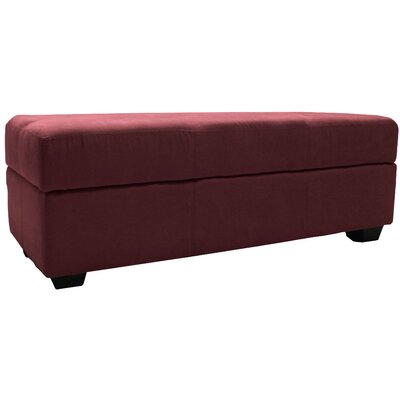 Grace Ottoman Upholstery: Suede Wine Red