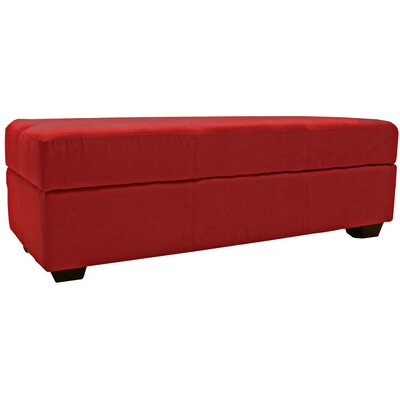 Grace Ottoman Upholstery: Suede Cardinal Red