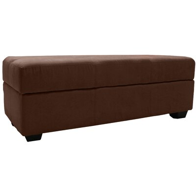 Grace Ottoman Upholstery: Suede Chocolate Brown