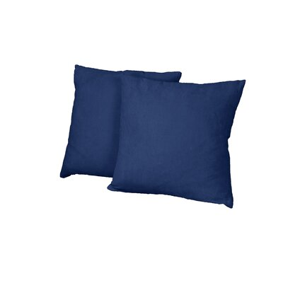 Gordon Throw Pillow Color: Suede Dark Blue