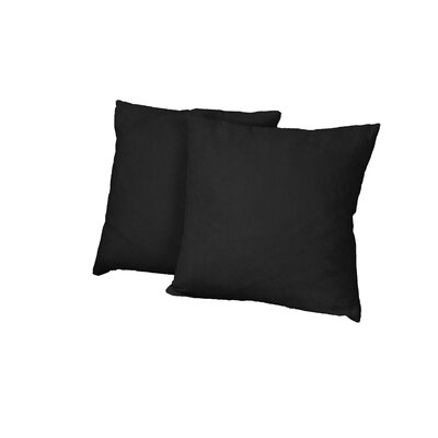 Gordon Throw Pillow Color: Suede Ebony Black