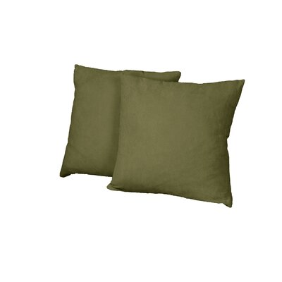 Gordon Throw Pillow Color: Suede Olive Green