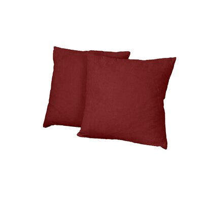 Gordon Throw Pillow Color: Suede Cardinal Red
