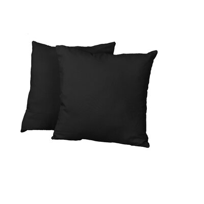 Gordon Throw Pillow Color: Twill Black