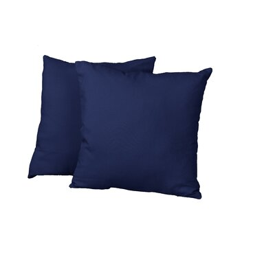 Gordon Throw Pillow Color: Twill Navy