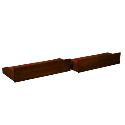 Gordon 2 Piece Storage Drawer Set Size: Full/Twin, Color: Walnut
