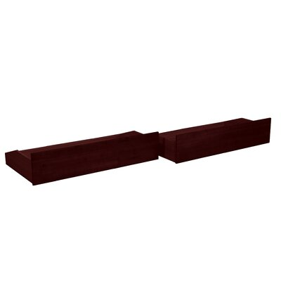 Gordon 2 Piece Storage Drawer Set Size: Full/Twin, Color: Mahogany