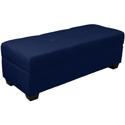 Grace Storage Ottoman Upholstery: Suede Dark Blue