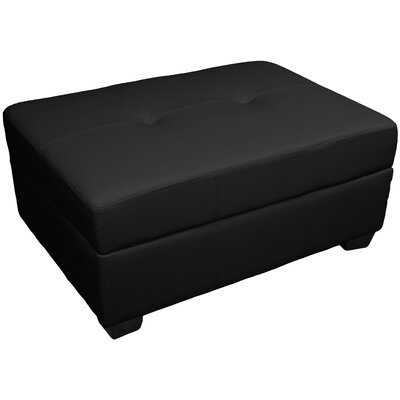 Grace Storage Ottoman Upholstery: Leather Look Black