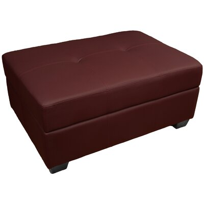 Grace Storage Ottoman Upholstery: Leather Look Bordeaux