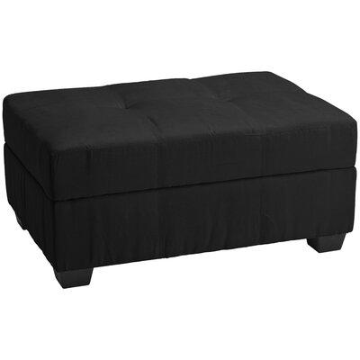 Grace Ottoman Upholstery: Suede Ebony Black