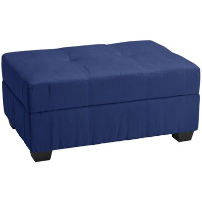 Grace Storage Ottoman Upholstery: Suede Dark Blue