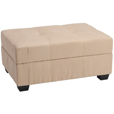 Grace Ottoman Upholstery: Suede Khaki