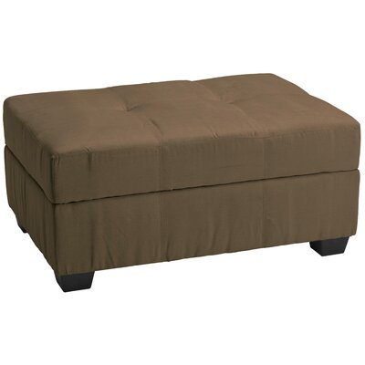 Grace Ottoman Upholstery: Suede Mocha Brown