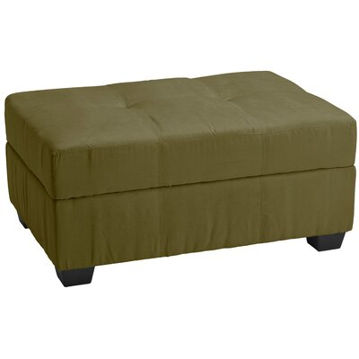 Grace Storage Ottoman Upholstery: Suede Olive Green