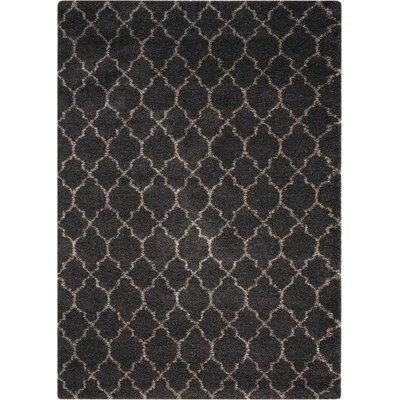 Linton Charcoal Area Rug Rug Size: Rectangle 53 x 75