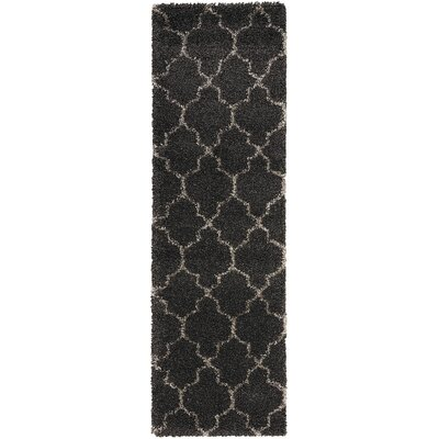 Linton Charcoal Area Rug Rug Size: Runner 22 x 10