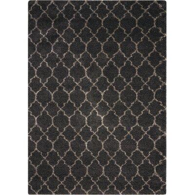 Linton Charcoal Area Rug Rug Size: 67 x 96