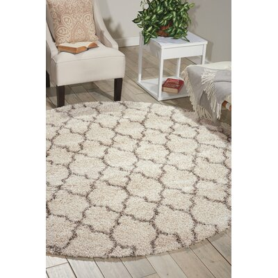 Linton Ivory Area Rug Rug Size: Round 67