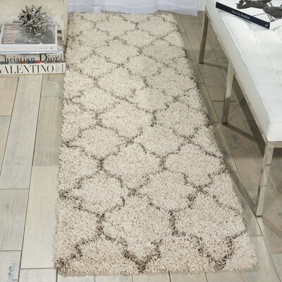 Linton Ivory Area Rug Rug Size: Runner 22 x 76