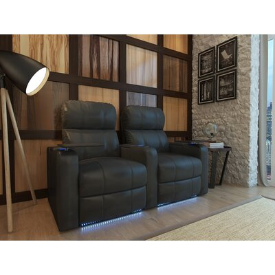 Home Theater Recliner (Row of 2) Upholstery: Black