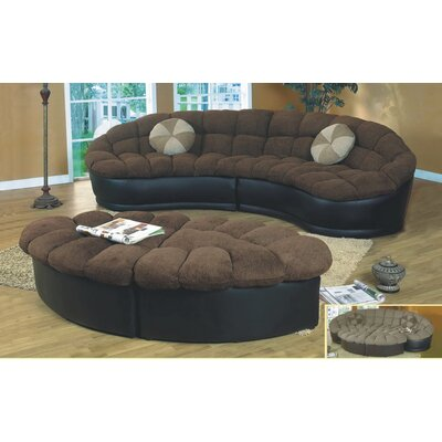 Maynard Modular Sectional Upholstery: Dark Brown