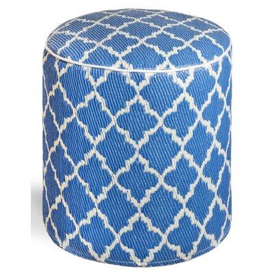 Merle Storage Ottoman Upholstery: Regatta Blue/White