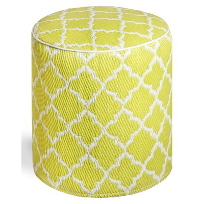Merle Storage Ottoman Upholstery: Celery/White