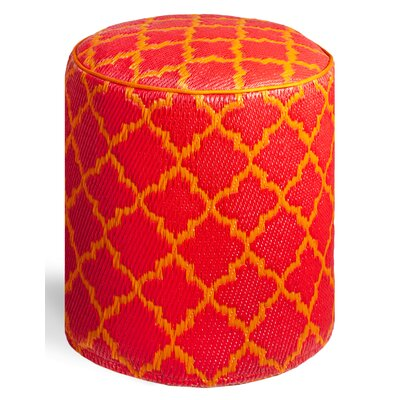 Merle Pouf Upholstery: Orange Peel/Rouge Red