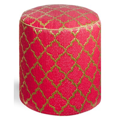 Merle Pouf Upholstery: Pinkberry/Bronze