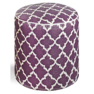 Merle Storage Ottoman Upholstery: Plum/White