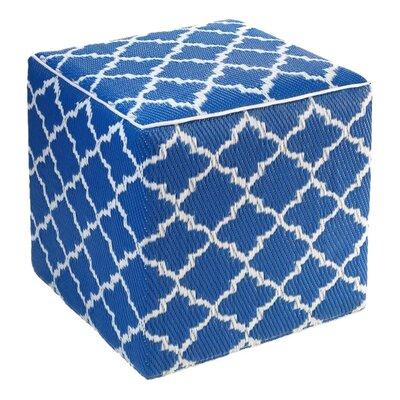 Merle Tangier Pouf Ottoman Upholstery: Regatta Blue
