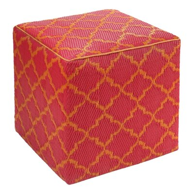 Merle Tangier Pouf Ottoman Upholstery: Orange Peel / Rouge Red