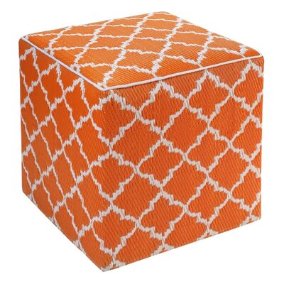 Merle Tangier Pouf Ottoman Upholstery: Carrot
