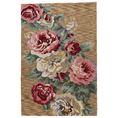 Miller Hand-Tufted Red/Brown Sugar Area Rug Rug Size: Rectangle 5 x 76