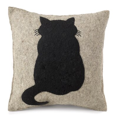 Millicent Cat Hand Felted Wool Pillow Cover